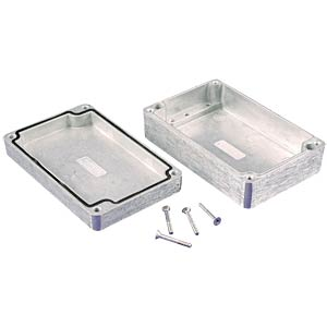 Die-cast aluminium housing,125 x 80 x 40 mm, thick-walled, IP 66 HAMMOND MANUFACTURING 1550Z107