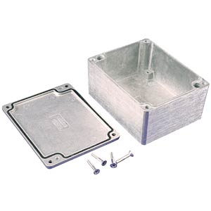 Die-cast aluminium housing,115 x 90 x 56 mm, thick-walled, IP 66 HAMMOND MANUFACTURING 1550Z113