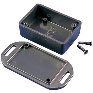 Mini-ABS-Gehäuse, 50 x 35 x 20 mm, IP 54, mit Flansch HAMMOND MANUFACTURING 1551GFLBK