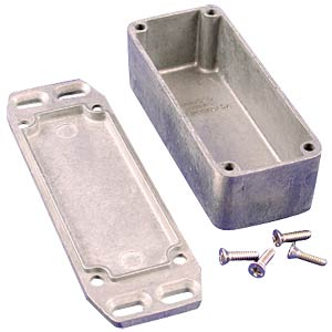 Die-cast aluminium housing, 93 x 39 x 31 mm, flanged HAMMOND MANUFACTURING 1590AFL