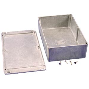 Die-cast aluminium housing, 188 x 120 x 56 mm, flanged HAMMOND MANUFACTURING 1590DFL