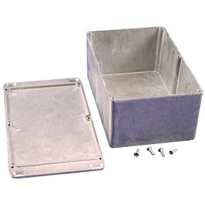 Die-cast aluminium housing, 188 x 120 x 82 mm, flanged HAMMOND MANUFACTURING 1590EFL