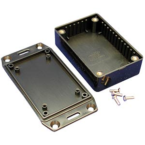 Multi-ABS-Gehäuse,85x56x26mm, sw, geflanscht HAMMOND MANUFACTURING 1591MFLBK