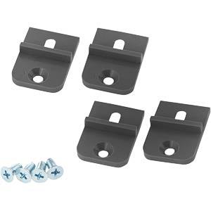 Montagehalterung, ABS, 4-teilig RND COMPONENTS RND 455-00486