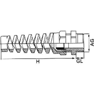 Kabelverschraubung, PG11, schwarz RAL 9005 RND COMPONENTS