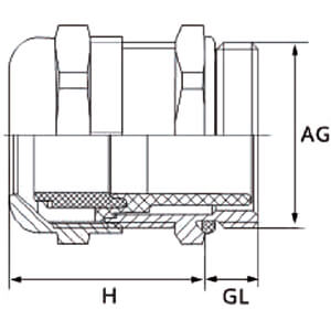 Cable gland, M20 x 1,5 RND COMPONENTS