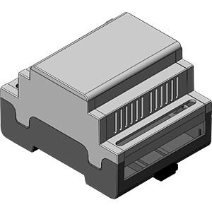 Leergehäuse, geschlossen, 72 x 58 x 90 mm, 4 TE APRA-NORM 449-340-55