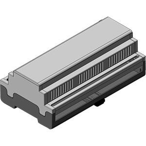 apraRail DB 9-module geventileerd, gesloten APRA-NORM 449-370-55