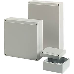 ROSE ALUFORM enclosure, 200 x 200 x 72 mm ROSE 04.20 20 07