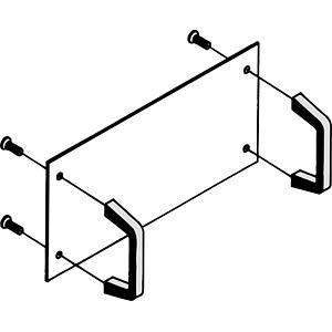 1 Satz Gerätegriffe für BGT 384-xxx FISCHER ELEKTRONIK BGT 0384 7ME