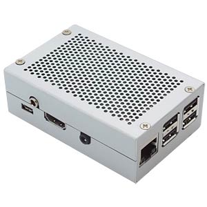 HiFiBerry DAC+ Phone Stahlgehäuse, silber HIFIBERRY HIFIBERRY CASE DAC+ PJ SI