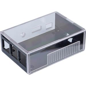Housing for Raspberry Pi B+, 2 and 3, carbon/trans. CAMDENBOSS CD9115