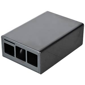 Raspberry Pi B+, 2 & 3, lower part, black CAMDENBOSS CBRPP-BA-BLK