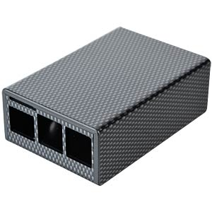 Raspberry Pi B+, 2 & 3, Oberteil, carbon-optik CAMDENBOSS CBRPP-AA-CAR
