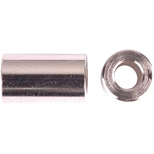 Spacers, nickel-plated brass, 15 mm FREI