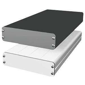 Alugehäuse, flach, 168 x 103 x 31 mm, schwarz PROMA 132011