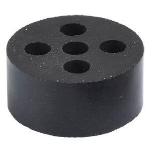 Mehrfachdichteinsatz, M 25, 5-fach, Ø 4 mm, schwarz, IP54 LAPPKABEL 53325540