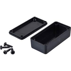 Plastic enclosure black - 42x21x15 mm RND COMPONENTS RND 455-00028
