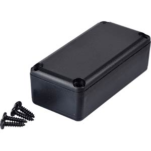 Plastic enclosure black - 49x24x16 mm RND COMPONENTS RND 455-00029