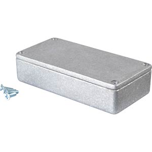 Metal enclosure grey - 101x50x26 mm, Die cast RND COMPONENTS RND 455-00037