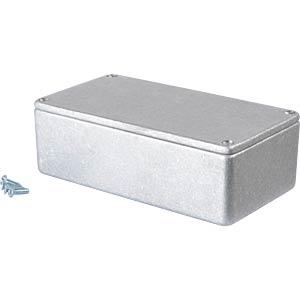 Metal enclosure grey - 120x66x40 mm, Die cast RND COMPONENTS RND 455-00039
