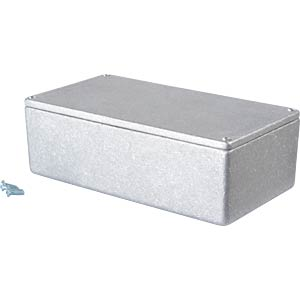 Metal enclosure grey - 152x82x50 mm, Die cast RND COMPONENTS RND 455-00040