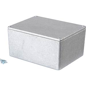 Metal enclosure grey - 121x95x61 mm, Die cast RND COMPONENTS RND 455-00042