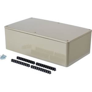 Kunststoffgehäuse - 190x110x60 mm, gr RND COMPONENTS RND 455-00049