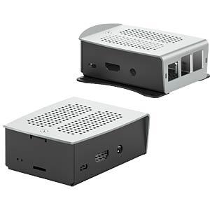 Aluminium-Gehäuse Raspberry Pi B+, 2 & 3, bk/si FISCHER ELEKTRONIK RSP1LMS