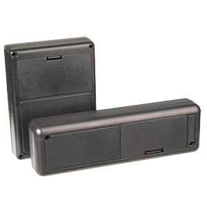 ABS case enclosure, 140 x 60 x 33 mm, black STRAPUBOX