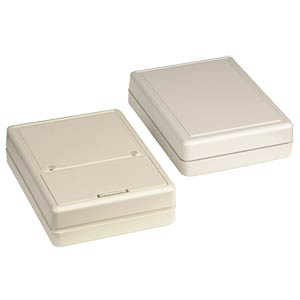 ABS case enclosure, 80 x 61 x 23 mm, grey STRAPUBOX