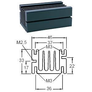 Radiatory specjalne, 94 x 46 x 33 mm, 3.2 K/W, M3 FREI