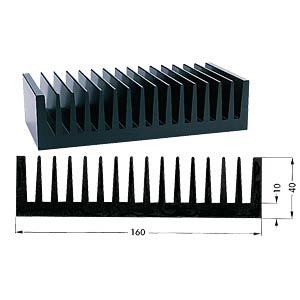 Profielkoellichaam, 100x160x40mm, 0,7K/W FREI