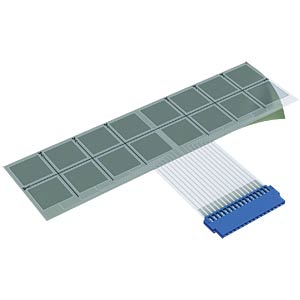 Membrane keyboard, capacitive, polymer, 16 flat MENTOR 2825.0012