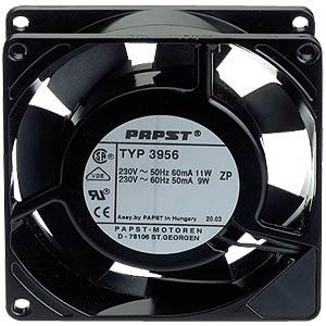 Axiallüfter,230VAC,92x92x25mm,U/min: 2650 EBM-PAPST 3956