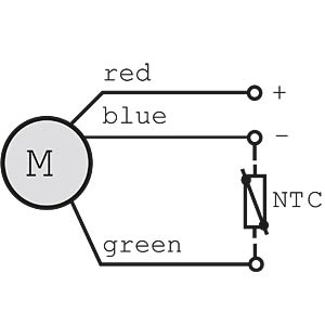 NTC resistor 100 kOhm EBM-PAPST LZ370