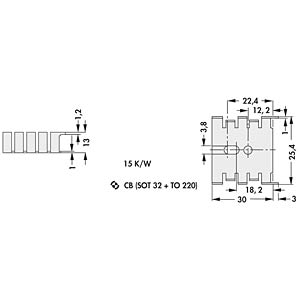 Fingerkühlkörper, TO-220/ SOT32 FISCHER ELEKTRONIK FK 216 SA CB