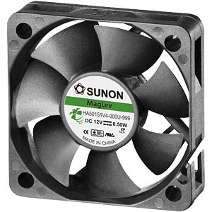 Fan 50x50x15 mm/12 V/0.045 A SUNON HA50151V4-0000-999