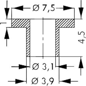 Isolierbuchse für Gehäuse: SOT-9, SOT-93 FISCHER ELEKTRONIK IB 14