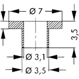 Isolierbuchse für Gehäuse: TO-220, TOP-3 FISCHER ELEKTRONIK IB 16