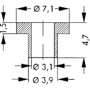 Isolierbuchse für für Gehäuse: TO-3, TO-66, SOT-9 FISCHER ELEKTRONIK IB 1