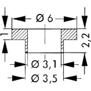Isolierbuchse für Gehäuse: TO-220, TOP-3 FISCHER ELEKTRONIK IB 6