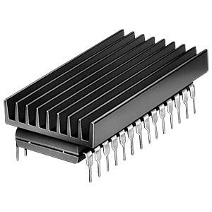 Heat sink, 19 x 4.8 x 6.3 mm, for DIL-IC FISCHER ELEKTRONIK ICK 14 16 B