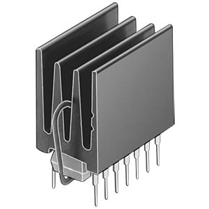 Heat sink, 12 x 16 x 20.5 mm, for DIL-IC FISCHER ELEKTRONIK ICK 16 H
