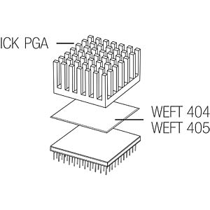 Heat sink for PGA, 25 x 28 x 15.3 mm FISCHER ELEKTRONIK 10037092