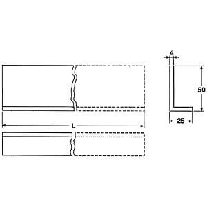 Kühlkörper,  160 mm, L-Profil, Alu AUSTERLITZ L-PROFIL 160MM