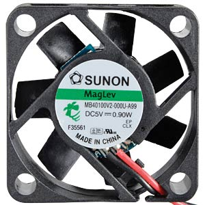 Fan, 5 V DC, 0.9 W, rpm: 5800 SUNON MB40100V2-000U-A99