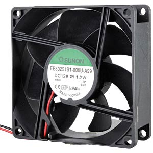 Fan, 12 V DC, 80 x 80 x 25 mm, rpm: 3200 SUNON EE80251S1-A99