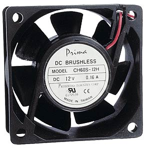 Fan, 12 V DC, 60 x 60 x 10 mm, rpm: 3500 SUNON MB60101V2-000U-A99