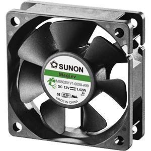 Fan 60x60x20 mm/12V/0.135 A SUNON MB60201V1-0000-999